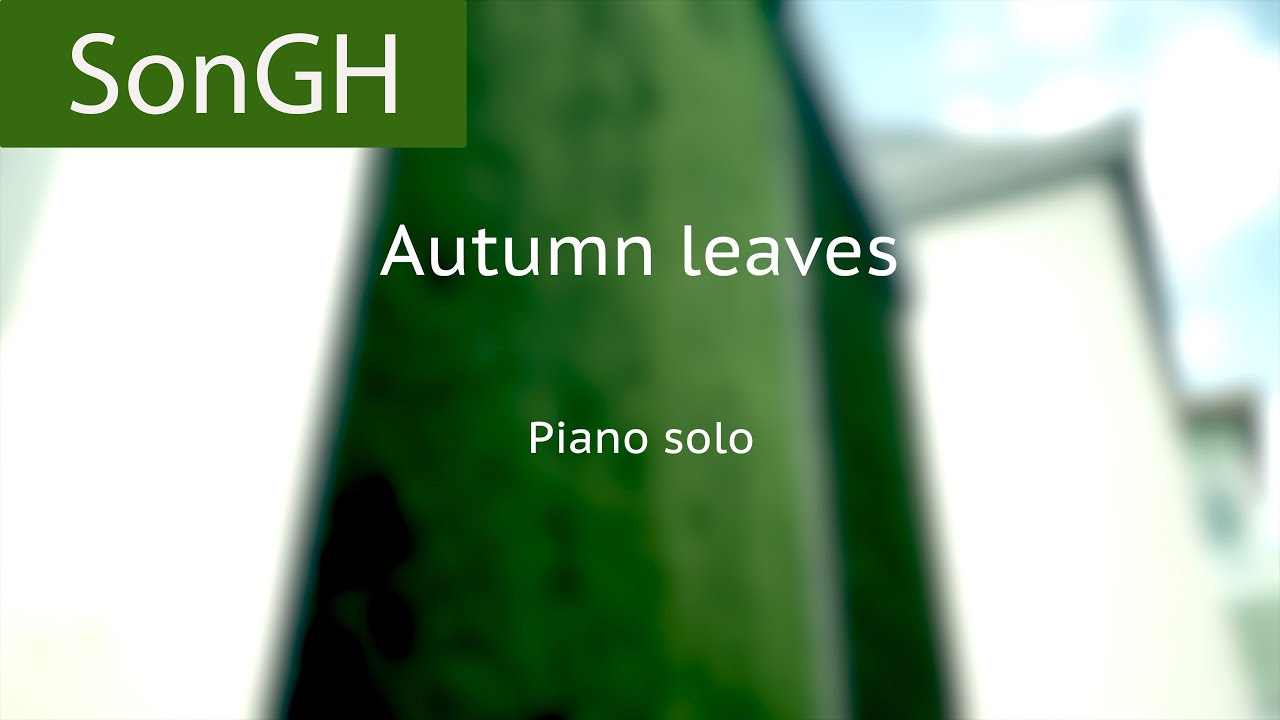 Autumn leaves solo piano version at Gartenheim, played by Marco Heggen