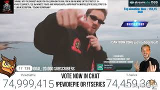 Pewdiepie congratulation 75.000.000 subscribers