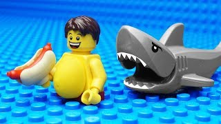 Lego Shark Vs Body Building   Gym Fail