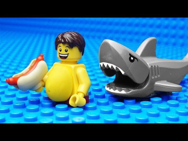 Lego Shark vs Body Building - Gym Fail