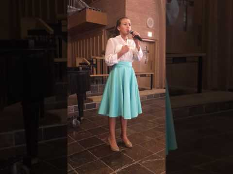 "Iva, Age 14, singing ""The Beauty Is"" at our most recent studio recital. Iva has been my private student for 5 years."
