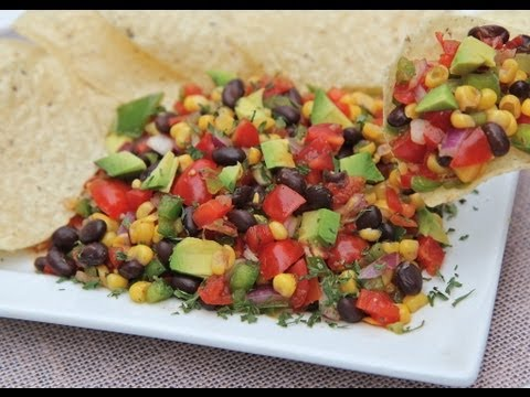 Easy Black Bean Corn Salad - So ADDICTIVE!