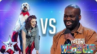 KNOCKOUT MATCH: Ashleigh & Pudsey vs Daliso Chaponda | Britain's Got Talent World Cup 2018 - Video Youtube