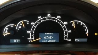 Airmatic & ESP Warning Lights Are On After Rt Frt Strut Replacement 2000 S430