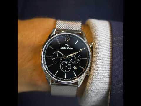 Mats Meier Grand Cornier Chronograph Mesh schwarz/silber