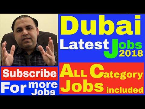 Dubai Latest Jobs 2018 || All Categories Jobs || Jobs in Dubai