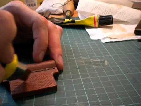 Leder Bearbeitung - Wir bauen einen Flinthalter (Teil 2) Fertigstellung