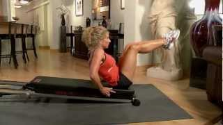Reverse Crunch on the Total Trainer Home Gym