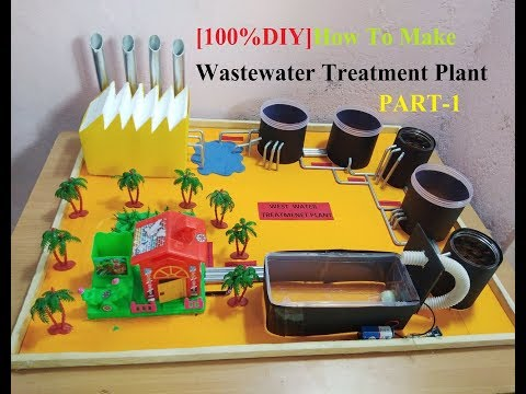 How To Make Waste water Treatment Plant  Model 2018 NEW [DIY] PART-1