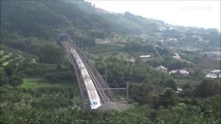 九州新幹線鹿児島県最北の有名撮影スポットにて201609