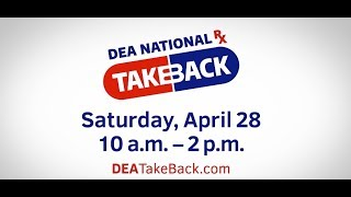 DEA Medication Take Back Day: drop-off point at KPD on April 28th, 10am-2pm