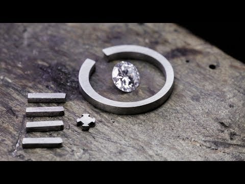 Handmade platinum and diamond engagement ring [No talking]