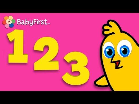 Aprendizaje de Números y Palabras | Clase BabyFirst para niños - Volumen 1 | 30 minutos