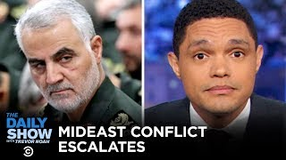 The Trump administration struggles to explain its rationale behind the assassination of Qassem Soleimani, and the Pentagon announces plans to withdraw troops from Iraq, only to clumsily retract the statement. #TheDailyShow  Subscribe to The Daily Show: https://www.youtube.com/channel/UCwWhs_6x42TyRM4Wstoq8HA/?sub_confirmation=1   Follow The Daily Show: Twitter: https://twitter.com/TheDailyShow Facebook: https://www.facebook.com/thedailyshow Instagram: https://www.instagram.com/thedailyshow  Watch full episodes of The Daily Show for free: http://www.cc.com/shows/the-daily-show-with-trevor-noah/full-episodes  Follow Comedy Central: Twitter: https://twitter.com/ComedyCentral Facebook: https://www.facebook.com/ComedyCentral Instagram: https://www.instagram.com/comedycentral  About The Daily Show: Trevor Noah and The World's Fakest News Team tackle the biggest stories in news, politics and pop culture.  The Daily Show with Trevor Noah airs weeknights at 11/10c on Comedy Central.
