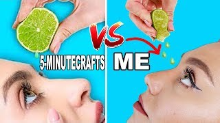 Trying  27 beauty hacks you didn't need to try By 5-Minute Crafts