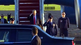President Trump arrives Wheeling West Virginia  Sept 30, 2018  Wheeling Ohio County Airport  trump r