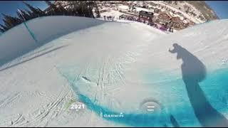 VR映像スキーハーフパイプのバーチャル体験ワールドカップ