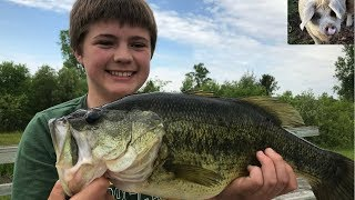 Private pond Bass Fishing (Personal Best CAUGHT)
