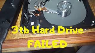 Seagate barracuda  3tb hard drive Failed