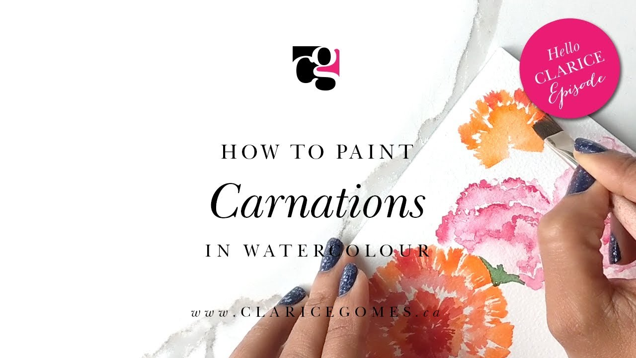 How to Paint Carnations in Watercolour