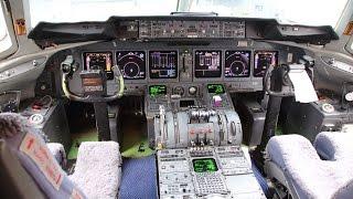 マクドネル・ダグラスMD-11F着陸コクピットビュー香港国際空港