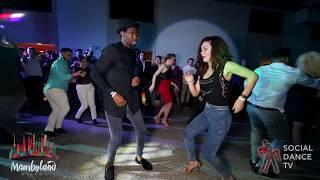 Tamba Salsaché Hissirou & Lady - Salsa social dancing   Mamboland Milano 2018