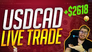 USDCAD LIVE TRADE | TRADE LIKE A BANK | FOREX STRATEGY