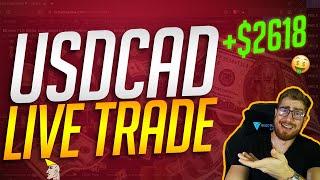 USDCAD LIVE TRADE | TRADE LIKE A BANK | FOREX STRATEGY