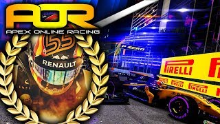 Apex Online Racing F1 2017 Highlights | Round 10 Singapore