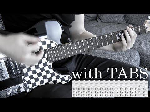 Three Days Grace - Over and Over Guitar Cover w/Tabs on screen