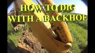 How To Operate John Deere Backhoe Plus How To Dig A Even Trench!
