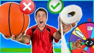 Wheel Decides Your WEIRD ITEM Basketball TRICK SHOT! *Intense Ending!*