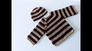 How To Crochet Baby Sweater/baby Cardigan/jumper