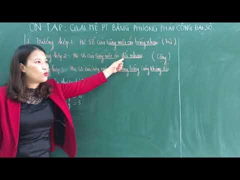 Chuyên đề Toán 9. Giải hệ PT bằng pp cộng đại số