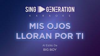 Big Boy - Mis ojos lloran por ti - Sing Generation Karaoke
