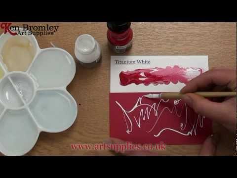 Liquitex Professional Acrylic ink! Titanium White 432