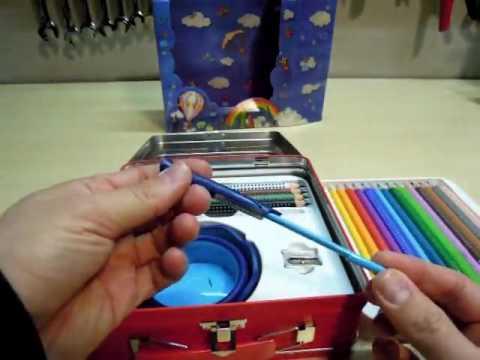 Faber Castell 201312 Malkoffer Jumbo Grip 18 Buntstifte,  Sehr schöner Malkasten mit hochwertigen St