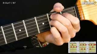 Gitarrenakkorde: B-Dur7 (H7) Akkord / B7 Chord