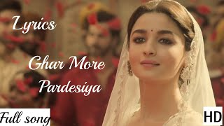 Ghar More Pardesiya (Kalank 2019) Video   Promo Mp3 Shreya Ghoshal With Lyrics
