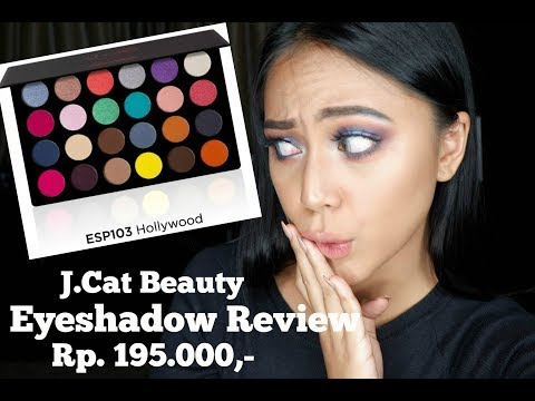 Nadhila Mencoba : J.Cat Beauty 24 Eyeshadow - Hollywood (Bahasa Indonesia) | Nadhila Maharani