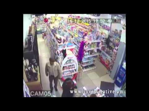 Տեսախցիկներն արձանագրել են խանութից կոնյակի գողության դրվագը (Տեսանյութ)
