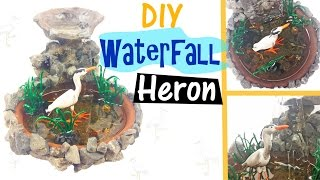 DIY MINIATURE BIRD WATERFALL ENVIRONMENT Resin & Polymer Clay Tutorial