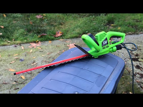 Greenworks Cordless Hedge Trimmer Unbox Use Amp Review