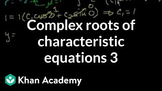 Complex roots of the characteristic equations 3