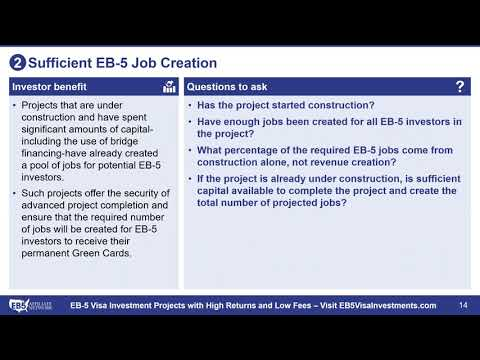 EB-5 Project Investment Framework: 5 Things That Matter Most for EB 5 Investors