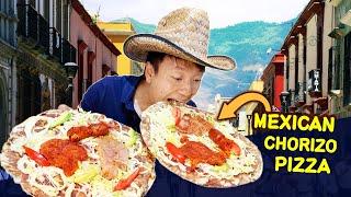 BREAKFAST: MEXICAN PIZZA (Tlayuda) & Mexican STREET FOOD at Local Market in Oaxaca