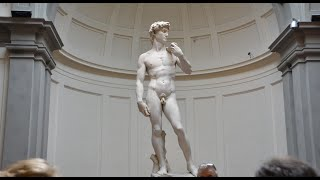 GALLERIA DELL' ACCADEMIA WITH MICHELANGELO'S STATUE OF DAVID!