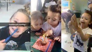 Gwen Stefani celebrating son Apollo's Birthday at school | Snapchat Videos | February 27 2017