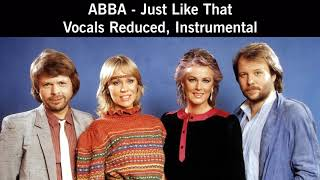 ABBA - Just Like That - Vocals Reduced, Instrumental (From Officially Released Snippet)