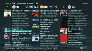 Kathrein UFSconnect-Receiver: Aufnahmen planen